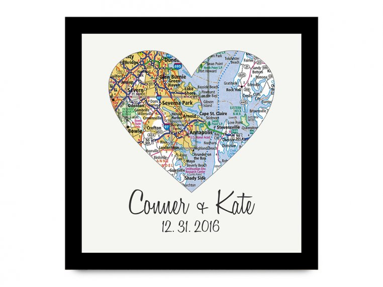 Personalized Map Heart Shadow Box by Define Design 11 - 7