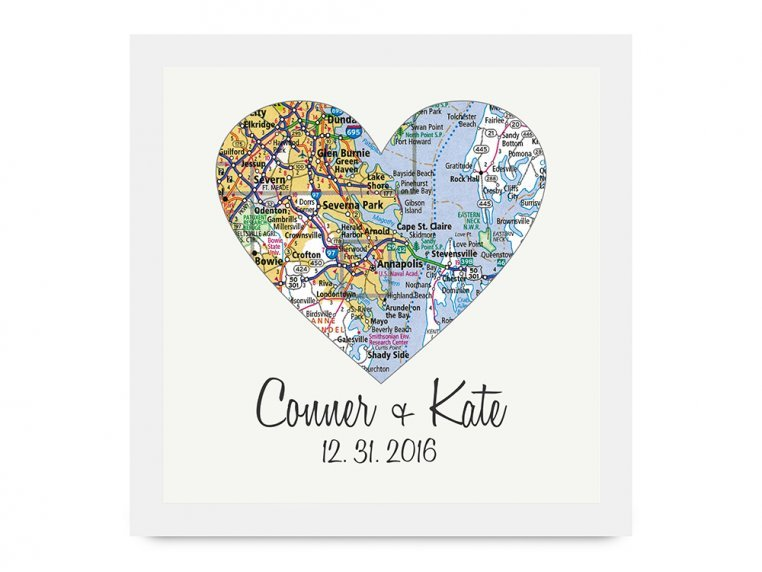 Personalized Map Heart Shadow Box by Define Design 11 - 8