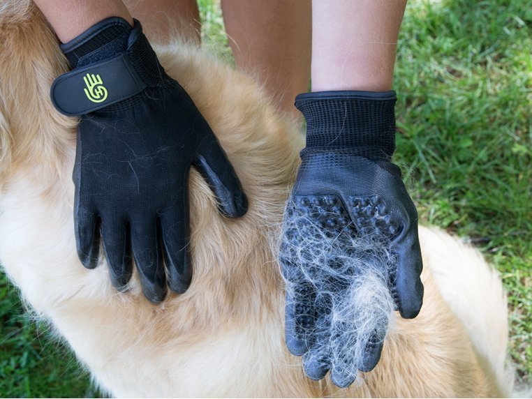 Grooved Pet Grooming Gloves by HandsOn Gloves - 4