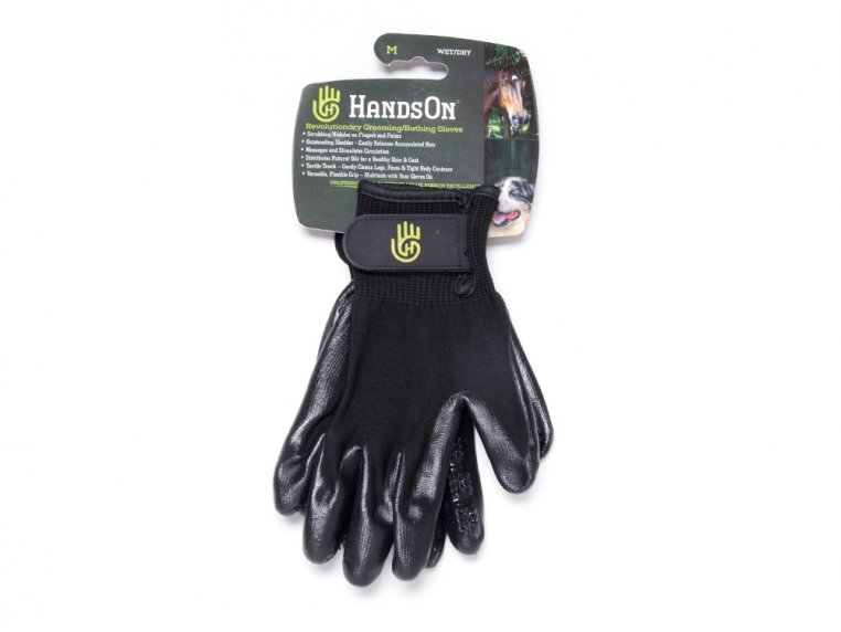 Grooved Pet Grooming Gloves by HandsOn Gloves - 7