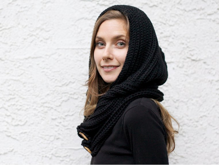 Windy Hooded Scarf by Wild Mantle - 3