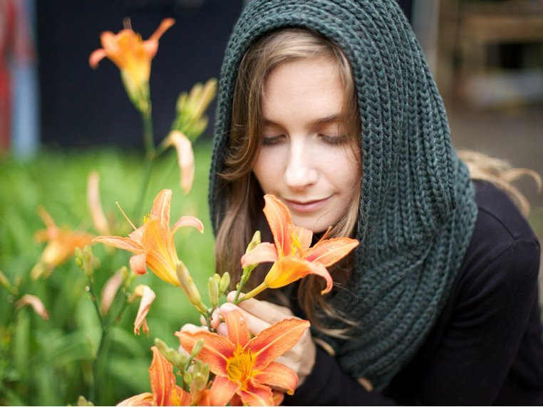 Windy Hooded Scarf by Wild Mantle - 4