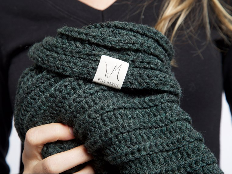 Windy Hooded Scarf by Wild Mantle - 5