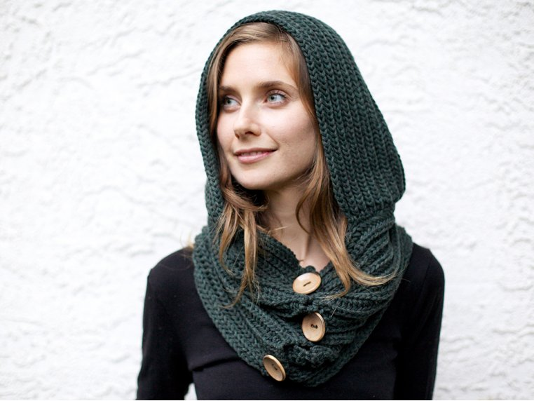 Windy Hooded Scarf by Wild Mantle - 1