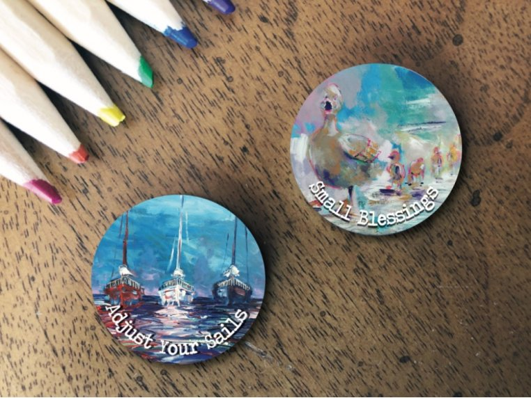 Story Coin Magnetic Inspirational Charm: Set of 2 by the StoryCoin - 1