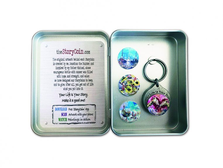 Story Coin Inspirational Keychain Set by the StoryCoin - 2