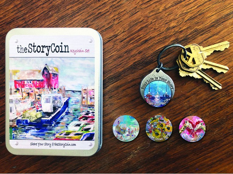 Story Coin Inspirational Keychain Set by the StoryCoin - 1