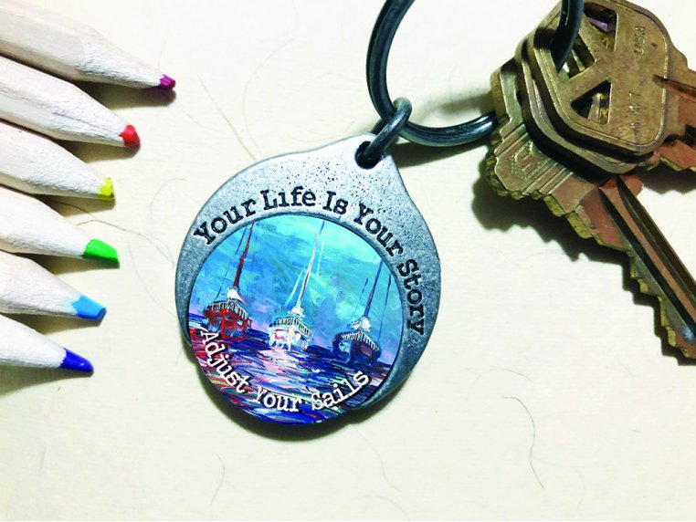 Story Coin Inspirational Keychain by the StoryCoin - 2