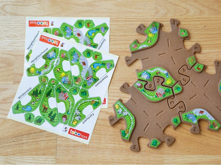 Upcycled Play Track Stickers by Tobo Toys - 1