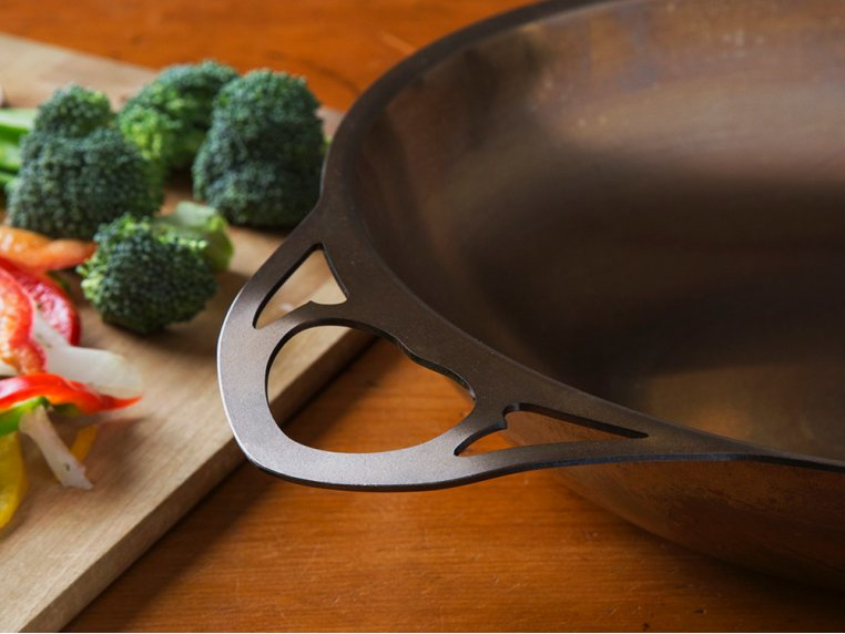 "AUS-ION Steel 11"" Wok by SOLIDTEKNICS - 4"