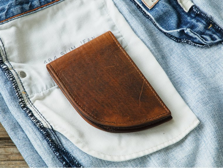 Bison Leather Front Pocket Wallet by Rogue Industries - 4