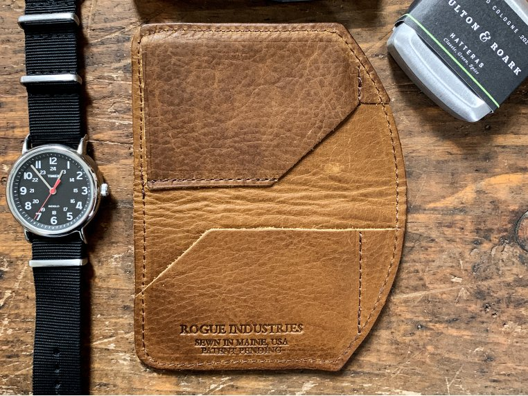 Bison Leather Minimalist Wallet by Rogue Industries - 1