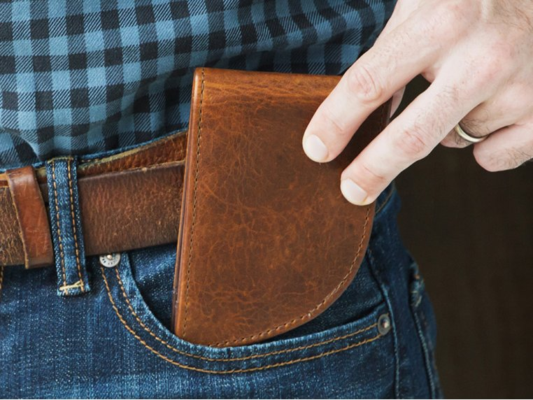 Moose Leather Front Pocket Wallet by Rogue Industries - 1