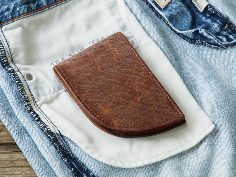 Moose Leather Front Pocket Wallet by Rogue Industries - 3