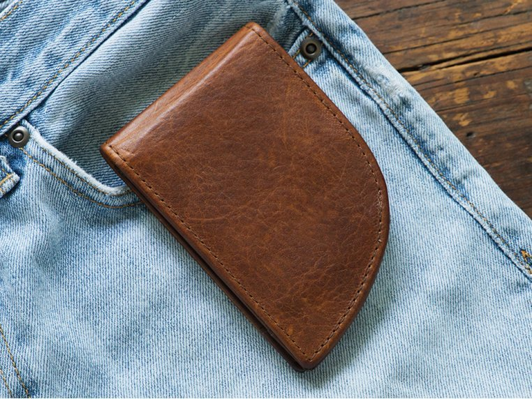 Moose Leather Front Pocket Wallet by Rogue Industries - 2