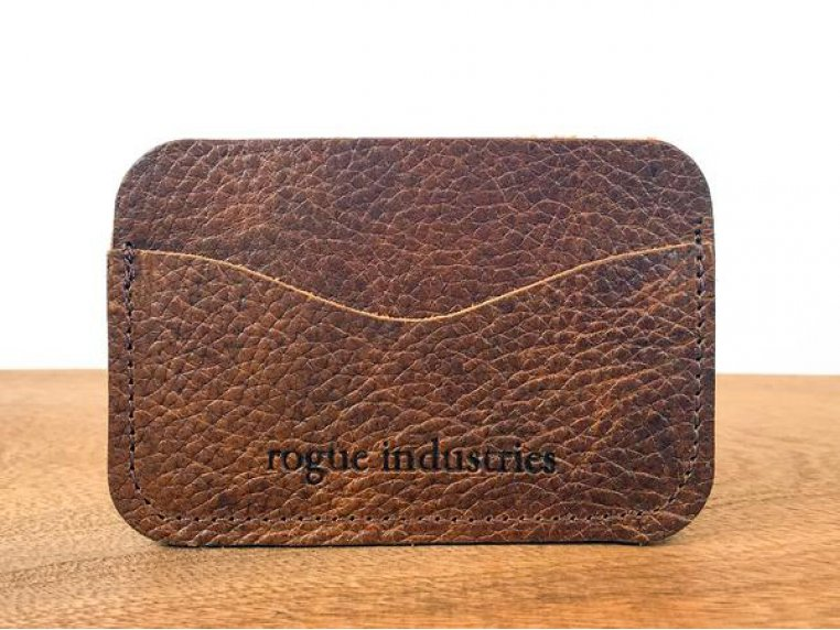 Bison Leather Card Case by Rogue Industries - 3