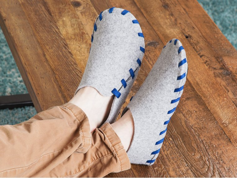 Felt Slippers with Interchangeable Laces by Lasso - 3