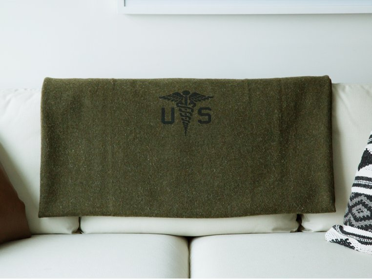 Foot Soldier Military Wool Blanket by Faribault - 3
