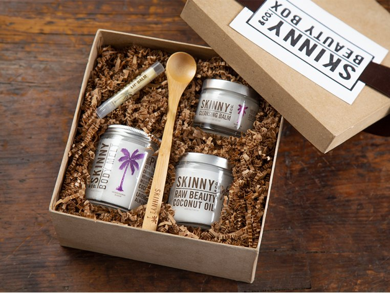 Premium Raw Coconut Oil Beauty Box by Skinny & Co. - 1