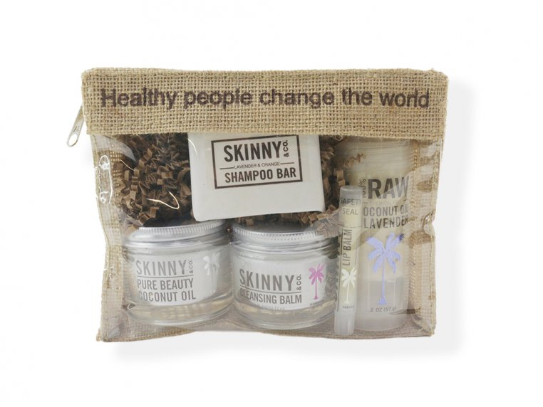 Raw Coconut Oil Beauty Travel Kit by Skinny & Co. - 3