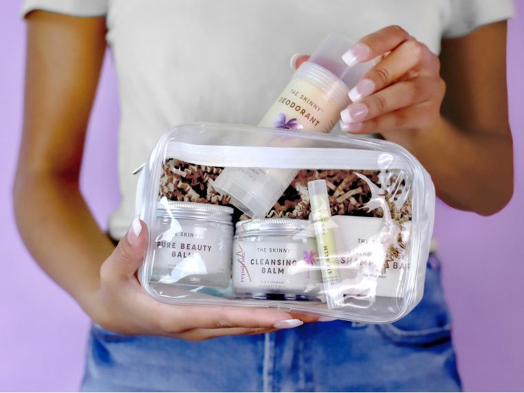 Raw Coconut Oil Beauty Travel Kit by The Skinny - 1
