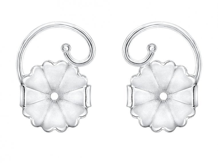 Anti-Droop Earring Lifts - Sterling Silver (One Pair) by Levears - 6