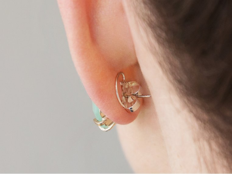 Anti-Droop Earring Lifts - Sterling Silver (One Pair) by Levears - 2