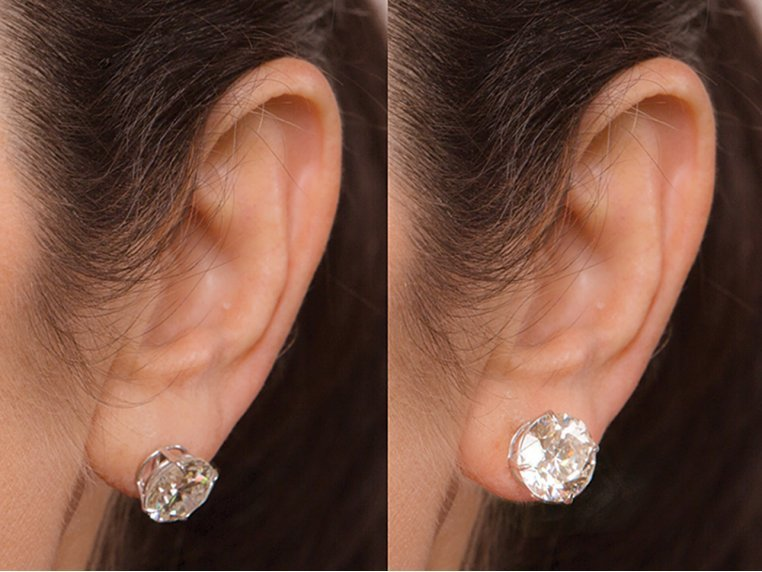 Anti-Droop Earring Lifts - Sterling Silver (One Pair) by Levears - 3