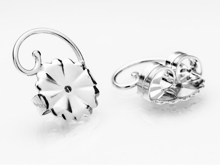 Anti-Droop Earring Lifts - Sterling Silver (One Pair) by Levears - 5