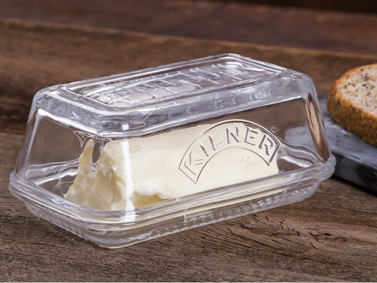 Glass Butter Dish by Kilner - 1