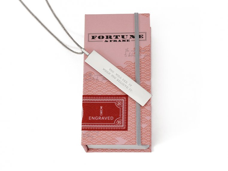 Fortune Pendant with Engraved Quote by Fortune & Frame - 2