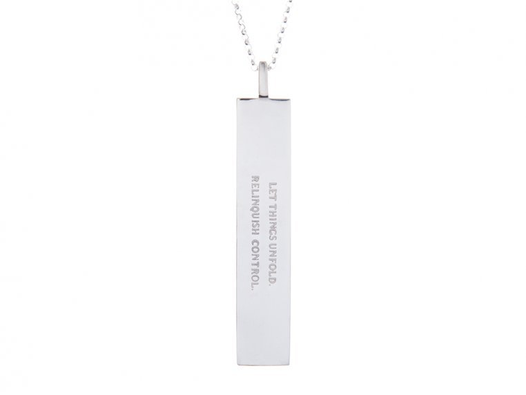 Fortune Pendant with Quote by Fortune & Frame - 11