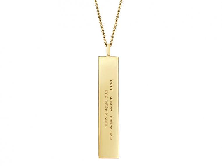 Fortune Pendant with Engraved Quote by Fortune & Frame - 6