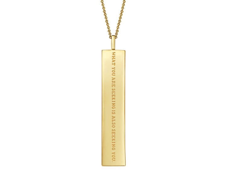 Fortune Pendant with Engraved Quote by Fortune & Frame - 10