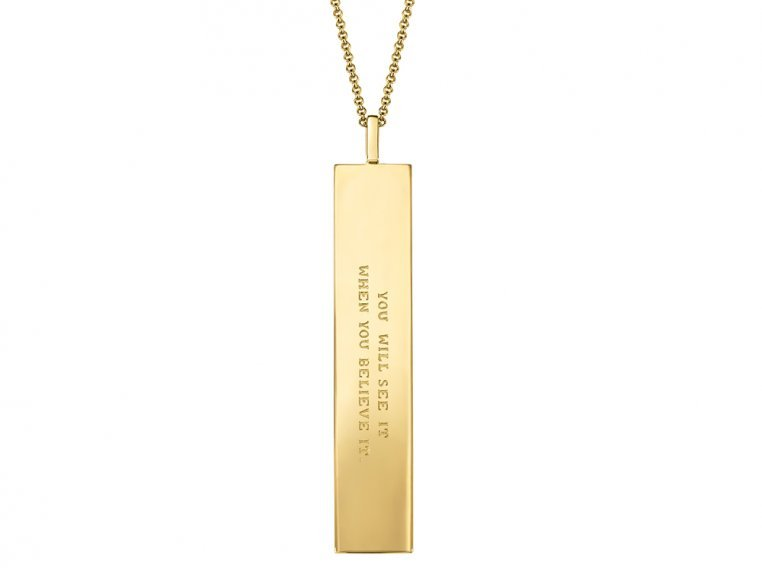 Fortune Pendant with Engraved Quote by Fortune & Frame - 12