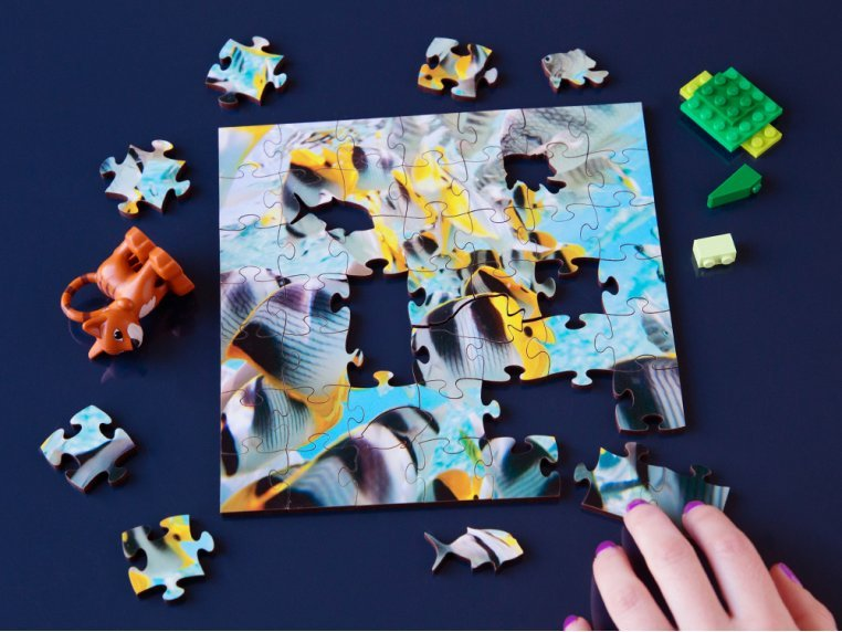 Children's Wooden Jigsaw Puzzle by Zen Art & Design - 1