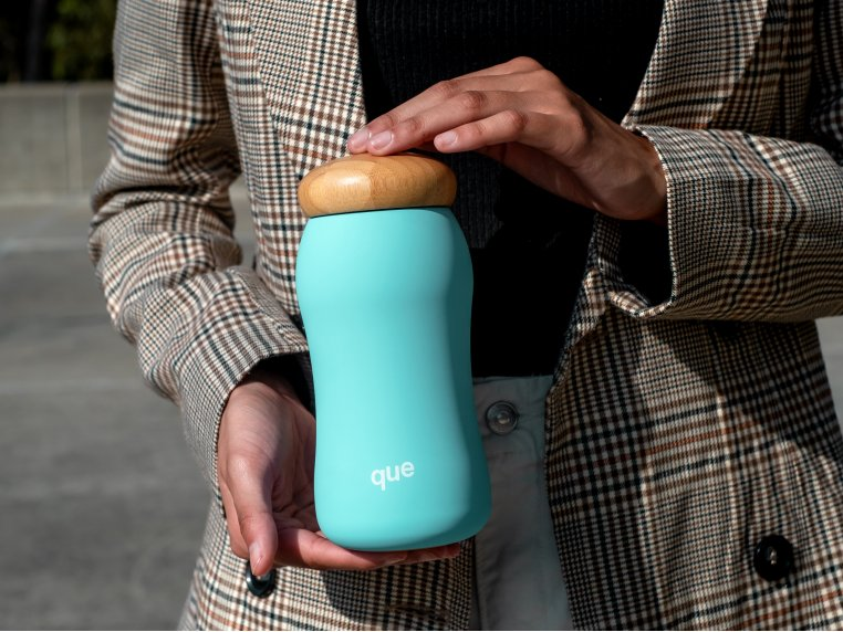Insulated Mug with Bamboo Cap by que - 1