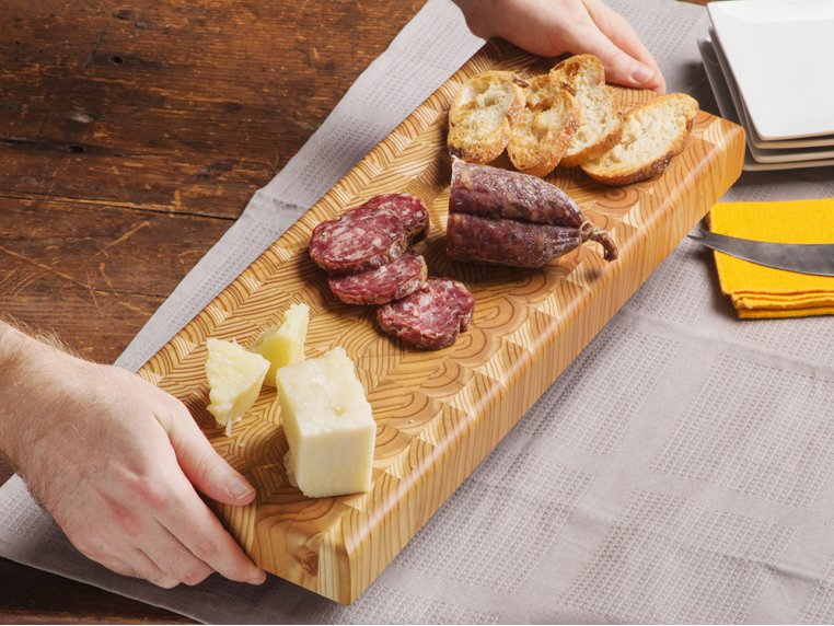 End Grain Double Cheese Board by Larch Wood - 2