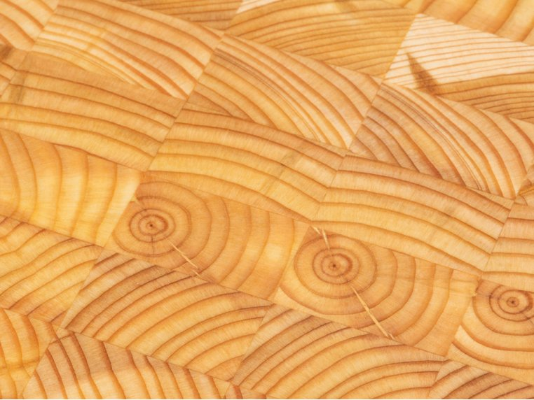 End Grain Double Cheese Board by Larch Wood - 3