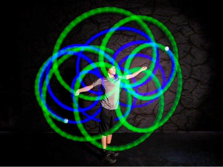 Rechargeable LED Poi Balls by Fun in Motion Toys - 3