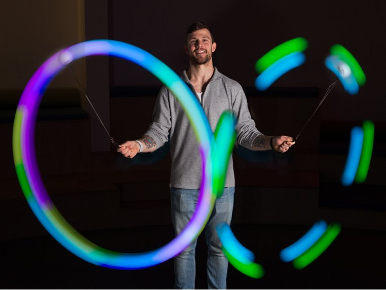 Rechargeable LED Poi Balls by Fun in Motion Toys - 1