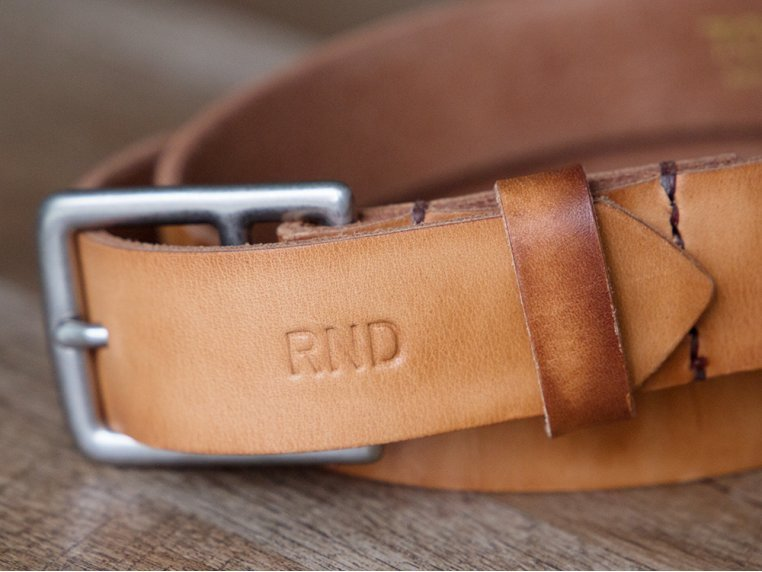 Men's Leather Belt with Monogram by Todder - 2