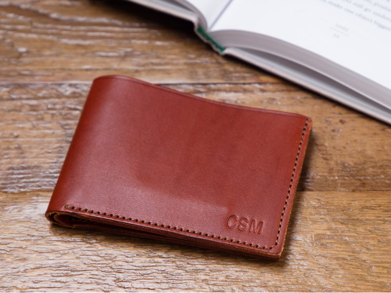Monogrammed Leather Bi-Fold Wallet by Todder - 1