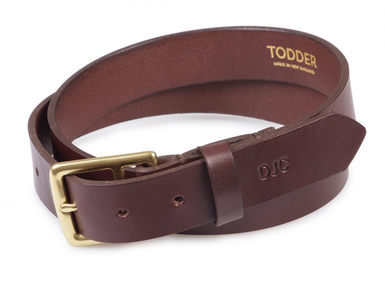 Men's Leather Belt with Monogram by Todder - 5