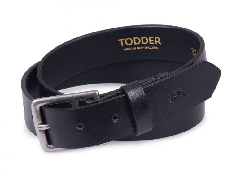 Men's Leather Belt with Monogram by Todder - 6