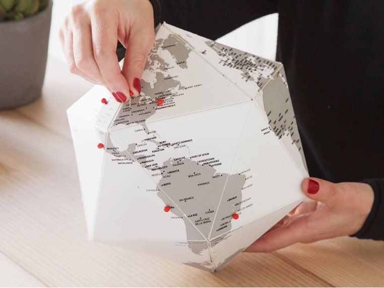 Three-Dimensional Paper Globe by Palomar - 1
