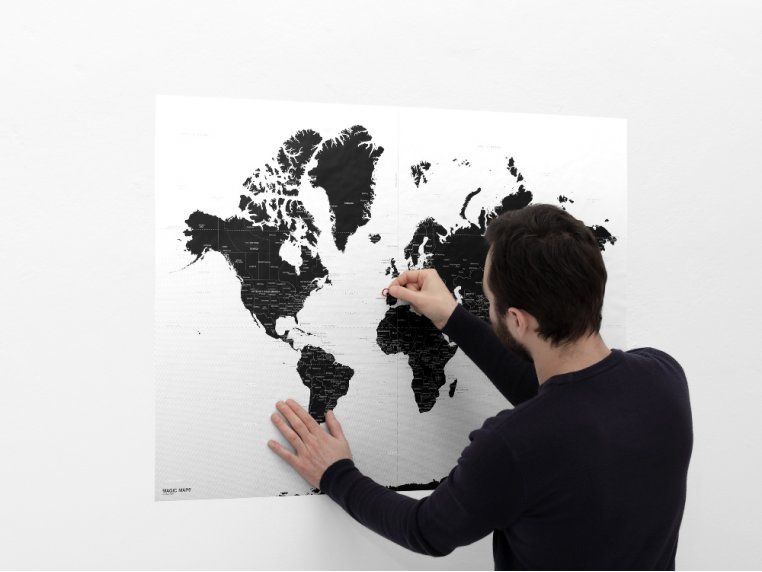 Abstract Micro-Suction Wall Map by Palomar - 1