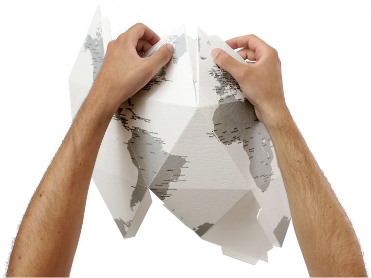 Three-Dimensional Paper Globe by Palomar - 3