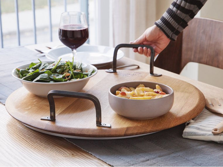Rotating Wine Cask Serving Platter by Provence Platters - 2