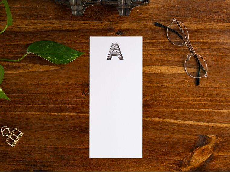 Initialed Note Cards by Black Ink - 3